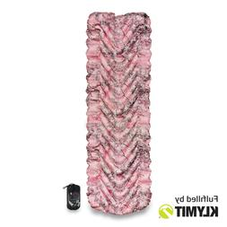 Klymit Static V Lightweight Sleeping Pad, King's Pink Shadow