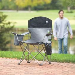 Sturdy Set of 2 Oversized Chairs Cooler Pouch Camping Lawn B
