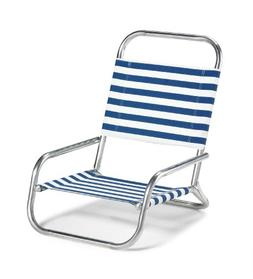 Telescope Casual Sun and Sand Folding Beach Chair, Blue/Whit