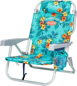 The Tommy Bahama Back Pack Beach Chair Folding Backpack Deck