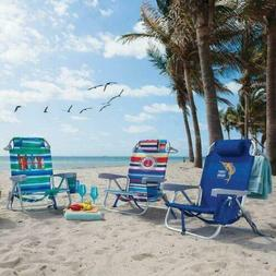 the folding backpack beach chair 5 positions