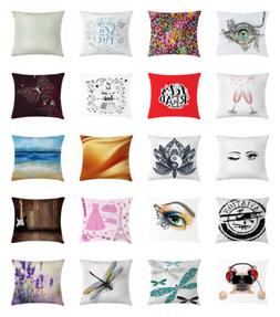 Throw Pillow Bed Decor Zipper Case with Cushion Cover by Amb