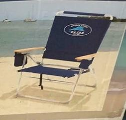 Tommy Bahama High Seat 7 Positions Beach Chair / Blue