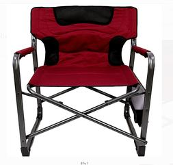 Folding Padded Director Chair XXL with Side Table for Beach,