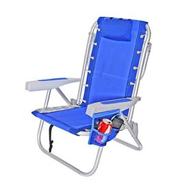 Rio Ultimate Backpack Beach Chair w/ cooler Pouch Colors: Da