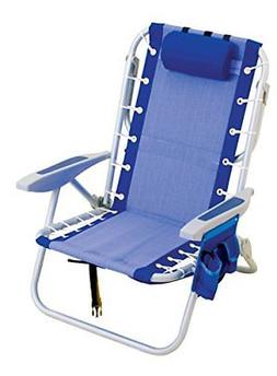 ultimate backpack chair with cooler blue blue