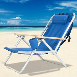 Backpack Portable High Strength Beach Chair with Adjustable