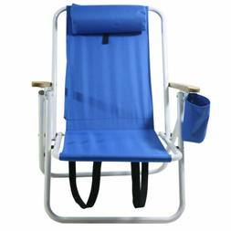Portable Folding Backpack Beach Chair with Adjustable Headre