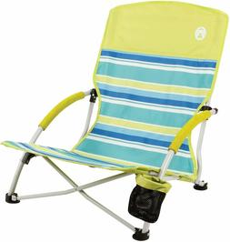 Coleman Utopia Breeze Beach Low Sling Camping Chair w/ Cup H
