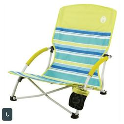Coleman Utopia Breeze Beach Sling Chair. With CUP Holder. Mu