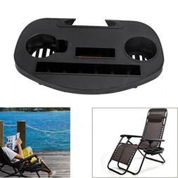 Zero Gravity Beach Chair Cup Holder Clip On Side Tray for iP