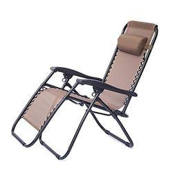 Zero Gravity Chair, Face Opening Sunbed High Seat Beach Chai
