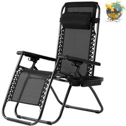 Zero Gravity Chair Lounge Recliner Outdoor Beach Patio Garde