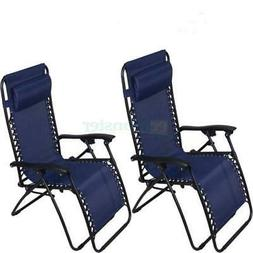 Zero Gravity Chairs Case Of  Blue Lounge Patio Chair Outdoor