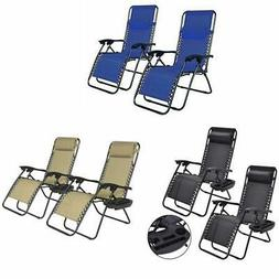 Zero Gravity Chairs Case Of 2 Lounge Patio Chairs Outdoor Ya