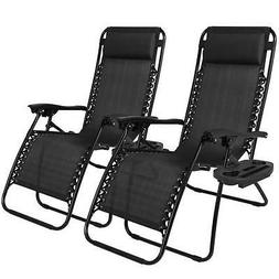 Zero Gravity Chairs Set Of 2 New Lounge Patio Chairs Outdoor